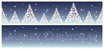 Geplaatste Kerstmis horizontale achtergronden Stock Afbeelding