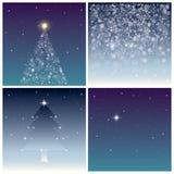Geplaatste Kerstmisachtergronden Stock Fotografie