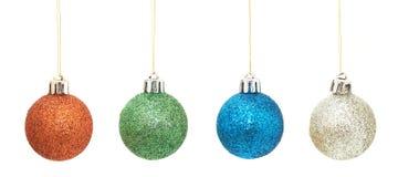 geplaatste Kerstmisballen Stock Afbeeldingen