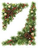 Geplaatste Kerstmishoeken Stock Afbeelding