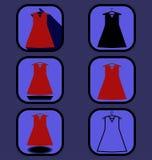 Geplaatste kledingspictogrammen Stock Fotografie