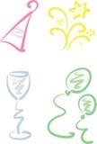 Geplaatste klem-kunst: Nieuwjaar/Partij stock illustratie