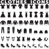 Geplaatste klerenpictogrammen Royalty-vrije Stock Afbeelding