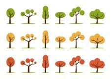 Geplaatste kleurenbomen Stock Foto