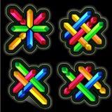 Geplaatste kleurenelementen Stock Afbeelding