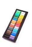 Geplaatste kleurpotloden Royalty-vrije Stock Afbeelding