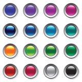 Geplaatste knopen. Het palet van de kleur. Royalty-vrije Stock Foto
