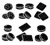 Geplaatste koekjes Vector Royalty-vrije Stock Foto's