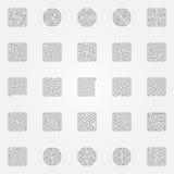 Geplaatste labyrintpictogrammen vector illustratie
