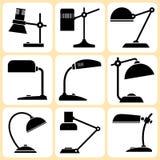Geplaatste lampen Vector Illustratie