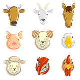 Geplaatste landbouwbedrijfdieren. Vector Royalty-vrije Stock Afbeelding