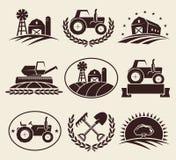 Geplaatste landbouwbedrijfetiketten Vector Royalty-vrije Stock Foto's