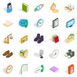 Geplaatste liefdadigheidpictogrammen, isometrische stijl Stock Afbeelding