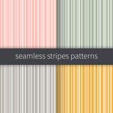Geplaatste lijnachtergronden Roze groene grijze gele en witte strepenvector Naadloze abstracte patroonillustratie Royalty-vrije Stock Afbeelding