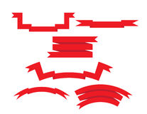 Geplaatste linten vector illustratie