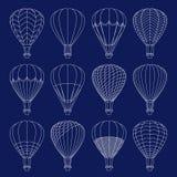 Geplaatste luchtballons Royalty-vrije Stock Foto's