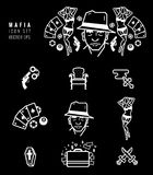 Geplaatste maffiapictogrammen Royalty-vrije Stock Foto's