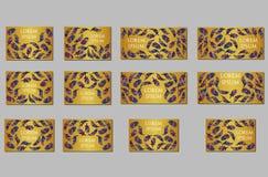 Geplaatste malplaatjes Adreskaartjes, uitnodigingen en banners Royalty-vrije Stock Fotografie