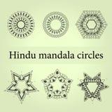 Geplaatste Mandalacirkels Mysticusmandala Royalty-vrije Stock Foto's