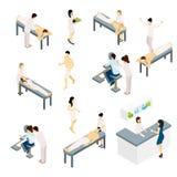 Geplaatste massagepictogrammen Stock Foto's