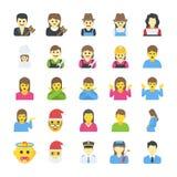 Geplaatste mensen Vlakke pictogrammen stock illustratie