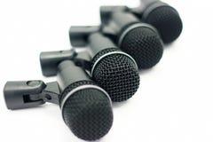 Geplaatste microfoons Royalty-vrije Stock Afbeeldingen