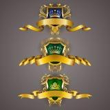 Geplaatste monogramemblemen Royalty-vrije Stock Afbeelding