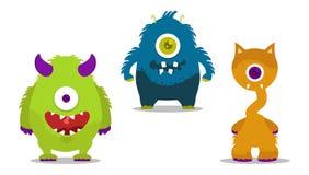 Geplaatste monsters Royalty-vrije Stock Foto