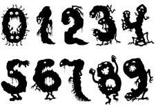 Geplaatste monstersaantallen royalty-vrije illustratie
