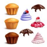 Geplaatste muffin Essentiële Elementen royalty-vrije illustratie