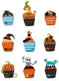 Geplaatste muffins Royalty-vrije Stock Afbeelding