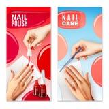 Geplaatste nagelverzorging Poolse 2 Banners vector illustratie