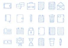 Geplaatste notitieboekjepictogrammen stock illustratie