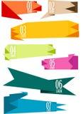 Geplaatste origamibanners,  Royalty-vrije Stock Afbeeldingen