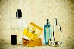 Geplaatste parfums Royalty-vrije Stock Afbeeldingen