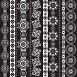 Geplaatste patroon zwart-witte, geometrische elementen Stock Foto