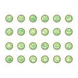 Geplaatste pictogrammen Stock Afbeeldingen