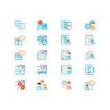Geplaatste pictogrammen Stock Foto's