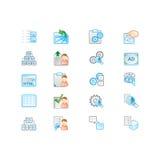 Geplaatste pictogrammen Royalty-vrije Stock Foto