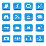 Geplaatste pictogrammen Royalty-vrije Stock Afbeeldingen