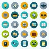 Geplaatste pictogrammen Stock Foto