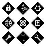 Geplaatste pictogrammen Stock Afbeelding