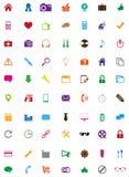 Geplaatste pictogrammen Royalty-vrije Stock Foto's