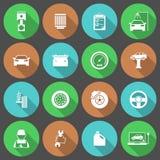 Geplaatste Pictogrammen van de auto de Autodienst Stock Afbeeldingen
