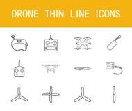 Geplaatste pictogrammen van de hommel de dunne lijn Royalty-vrije Stock Afbeelding
