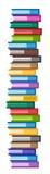 Geplaatste pictogrammen van het boeken de vectorembleem scyscraper Stock Afbeeldingen