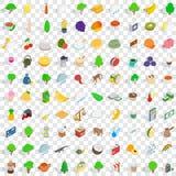 100 geplaatste pictogrammen van Sri Lanka, isometrische 3d stijl Royalty-vrije Illustratie