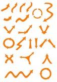 Geplaatste pijlen Royalty-vrije Stock Afbeeldingen