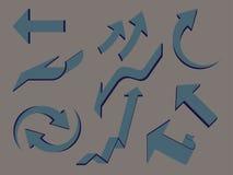 Geplaatste pijlen stock illustratie