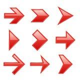 Geplaatste pijlen E vector illustratie